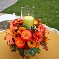 cocktail table floral arrangement