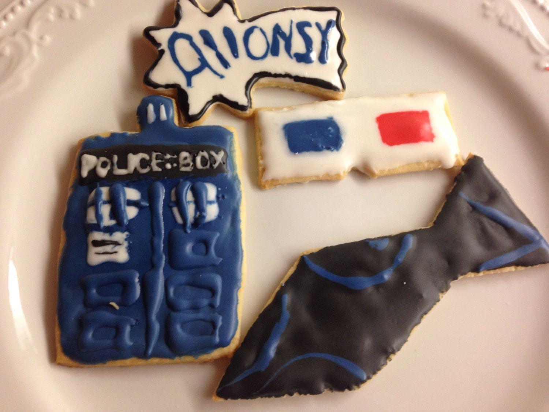 Tenth doctor sugar cookies