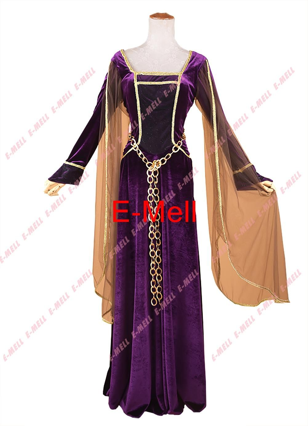Click to buy ucuc cosplay purple colored evening dress with