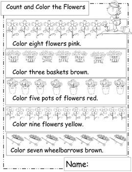 Garden Themed Math Worksheets How Does My Garden Grow Garden Patch Math Teacherspayteachers Com Math Worksheets Elementary School Math Activities Math