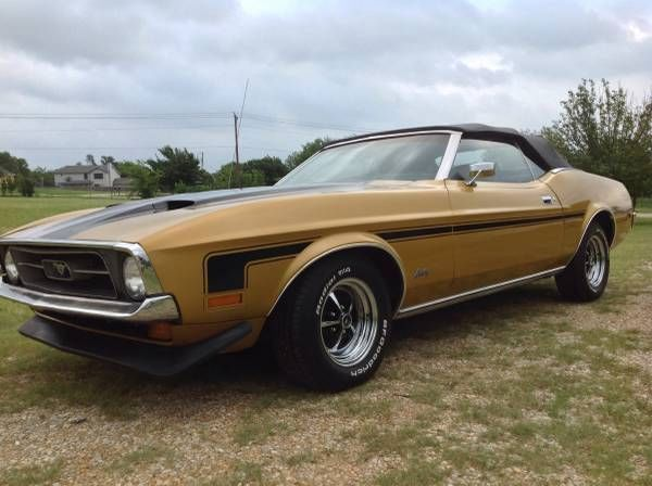 Used Classic Car For Sale In Texas 1972 Ford Mustang Convertible