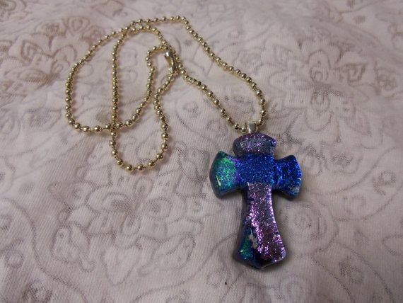 Heavenly Cross of Silver and Blue by peaceloveandartshop on Etsy, $25.00