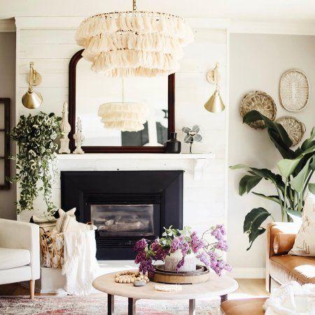 Justina Blakeney Fela Tassel Chandelier Living Room