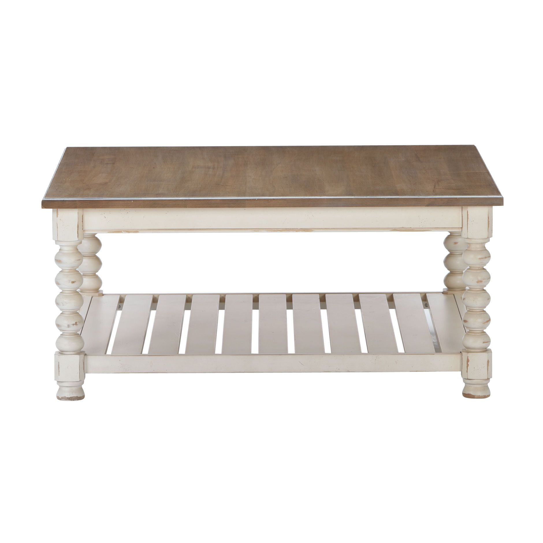 mansfield square coffee table - ethan allen us weathered