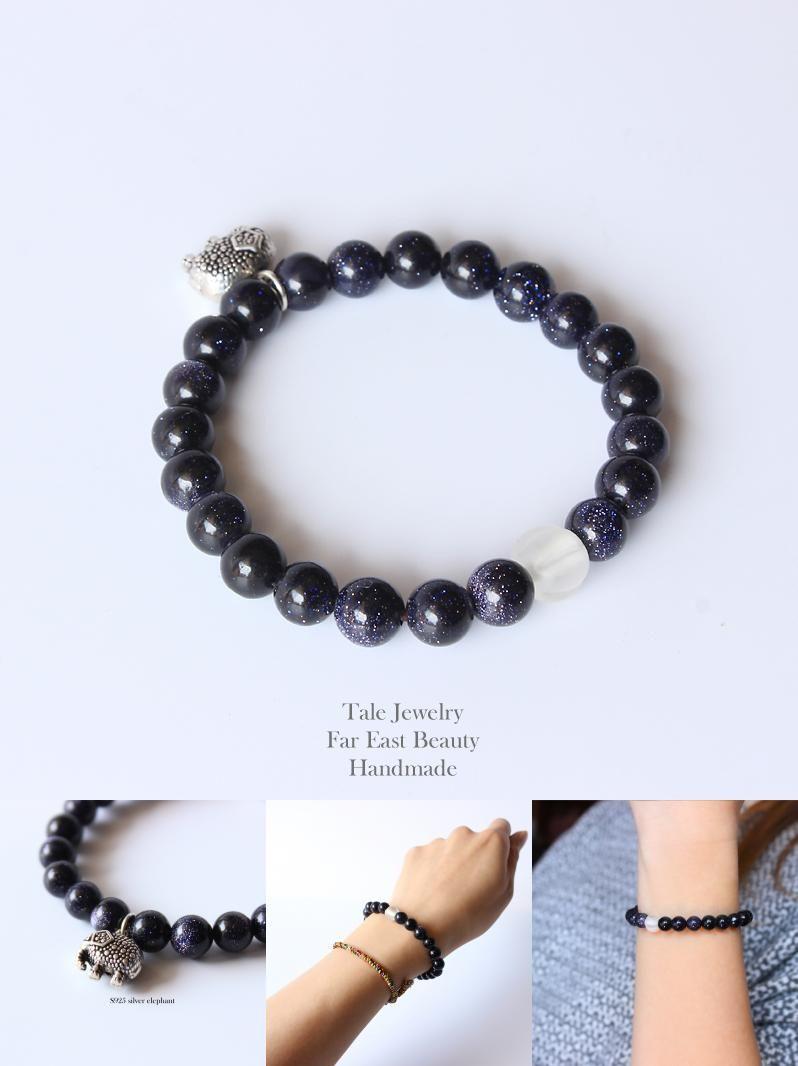 Visit to buy tale design white lampwork blue sandstone beads