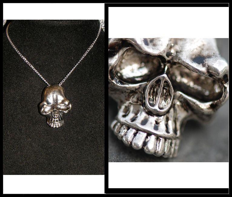 collier femme skull
