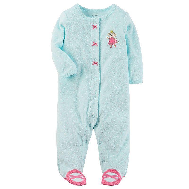 b97f6bf494da Baby Girl Carter s Dotted Terry Sleep   Play