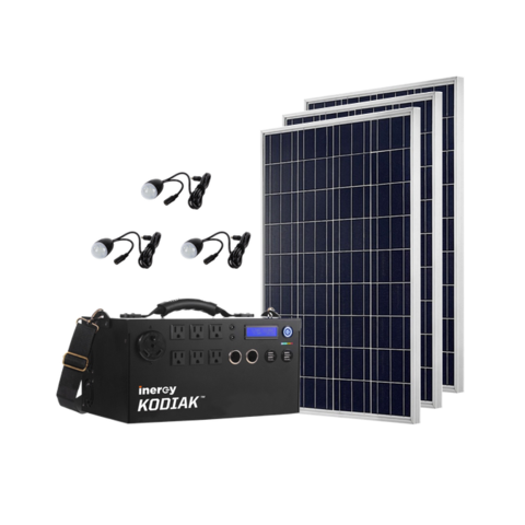 1500w Lithium Ion Solar Generator Kit Kodiak Portable 1 1kwh Capacity Legacy Food Storage Solar Technology Solar Generator Solar Panel System