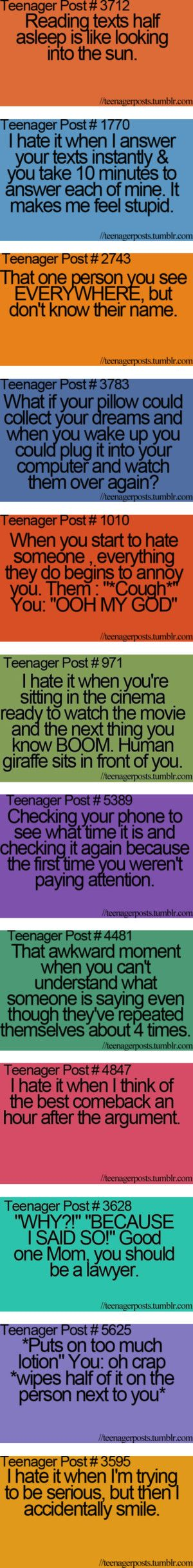 All the time! Hahah
