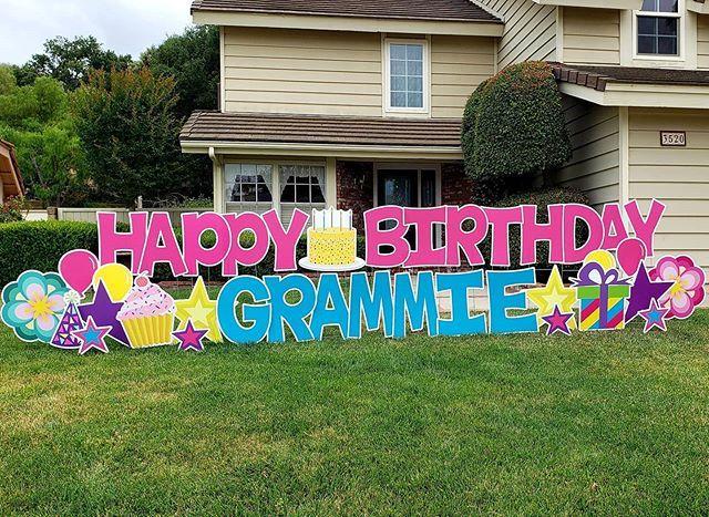 card my yard  home  birthday yard signs happy birthday