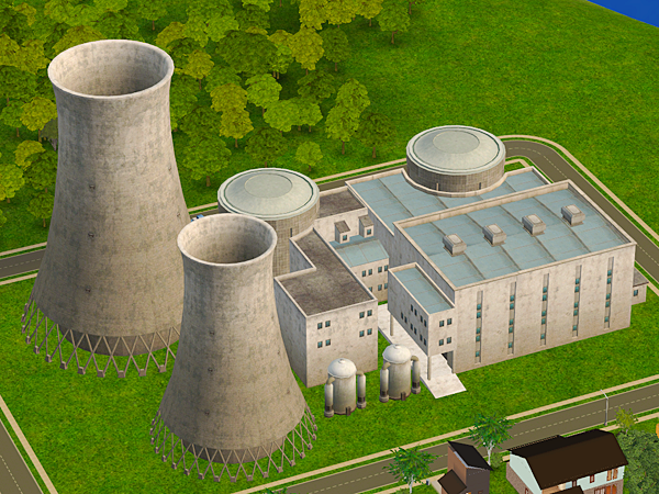 Nuclear Power Plant Cooling Towers Neighborhood Deco Converted
