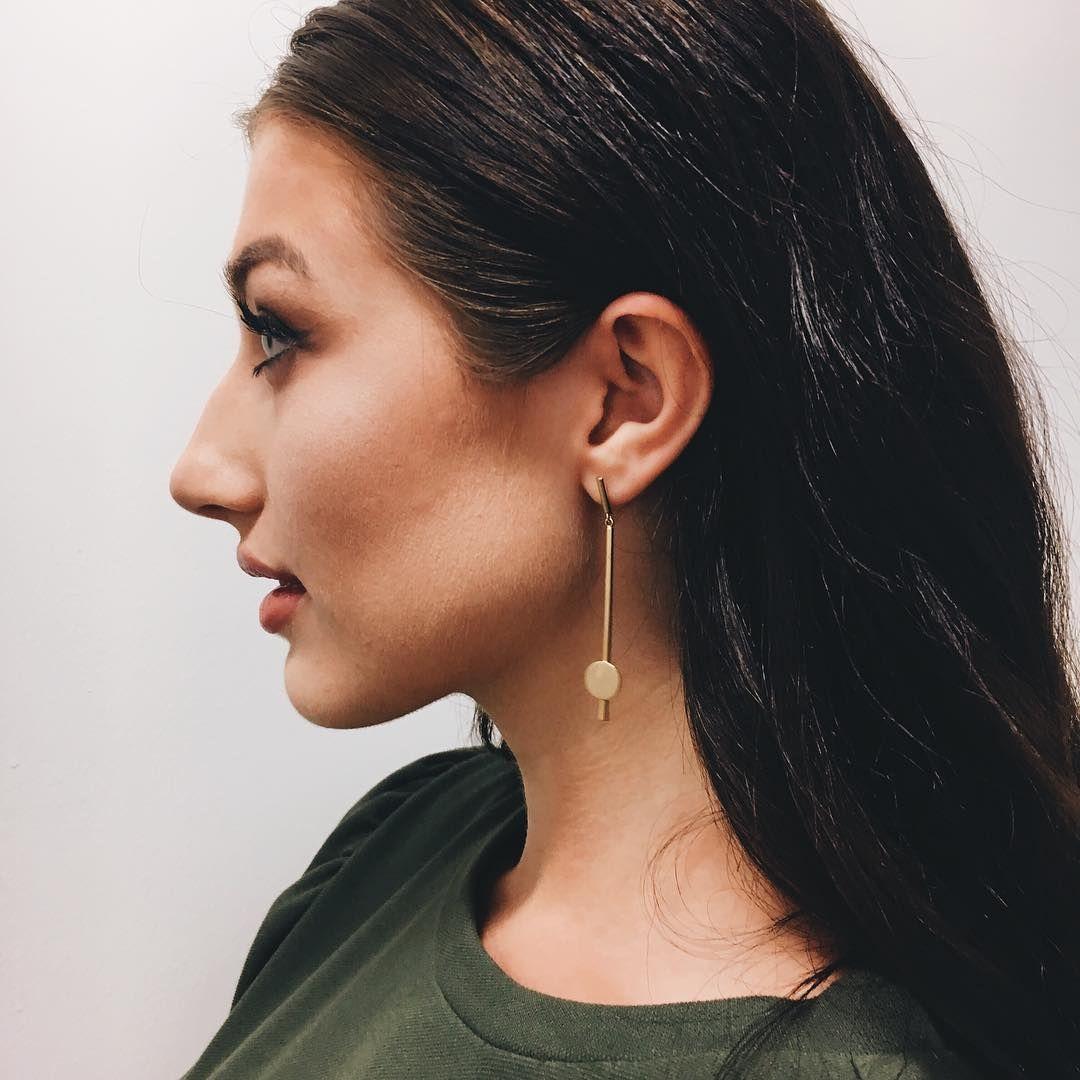 Andante gold earrings shop blowtique shop blowtique