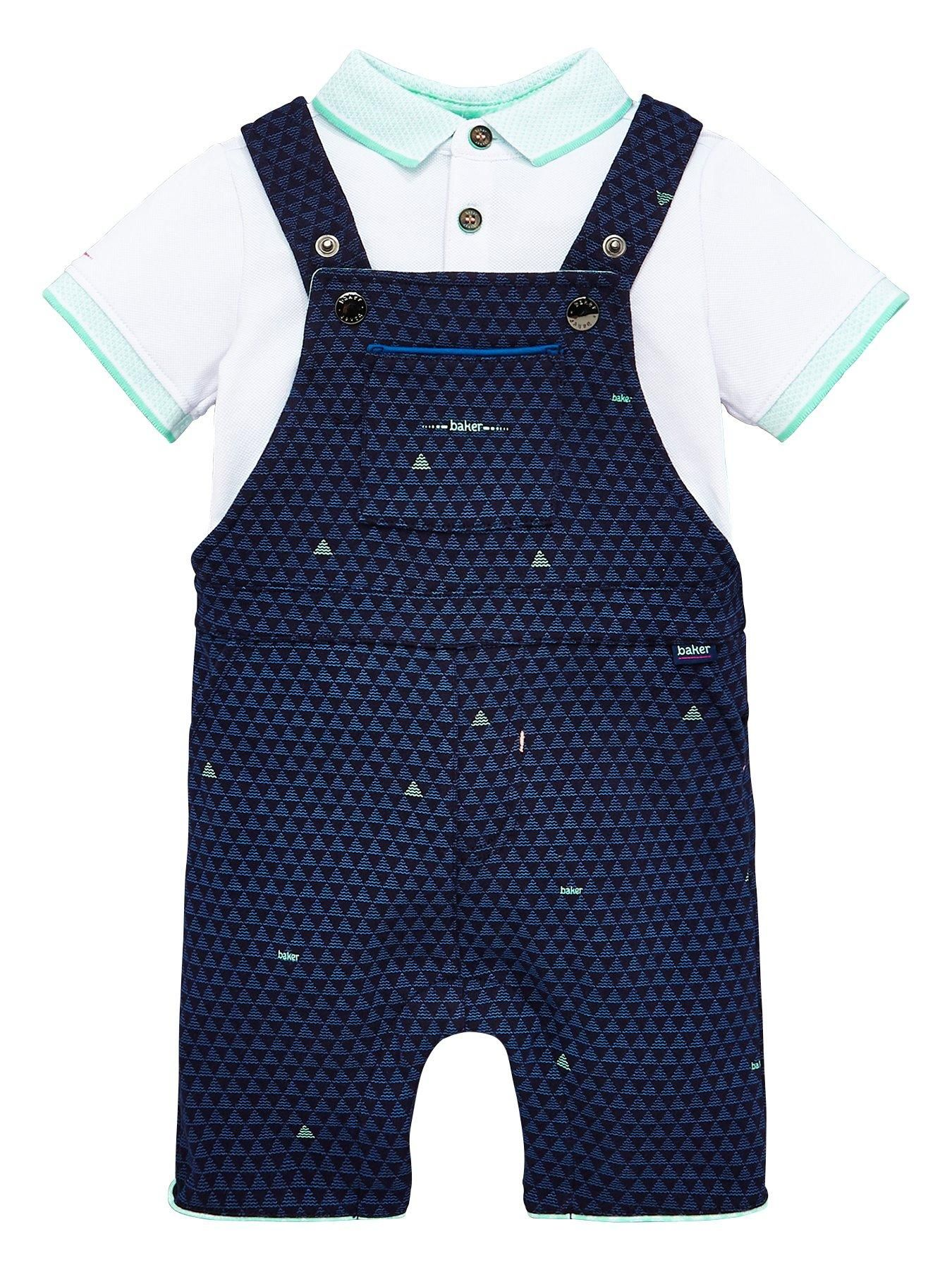 0b5a1394b Baker by Ted Baker Baby Boys Geo Polo Dungagree Set