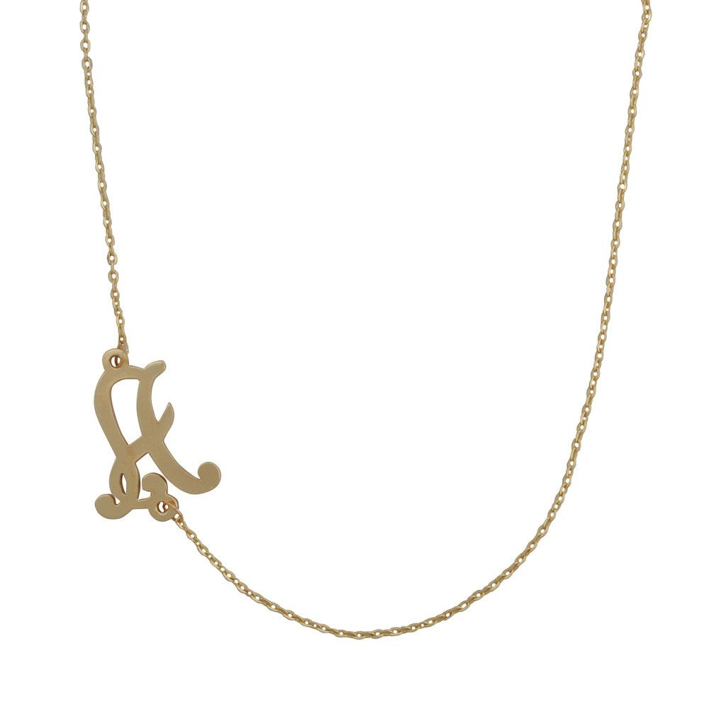 Letter Golden Chain Necklace – Jane Stone