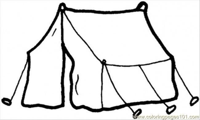 Tent For Living Coloring Page Free Houses Coloring Pages Tent Drawing House Colouring Pages House Drawing For Kids