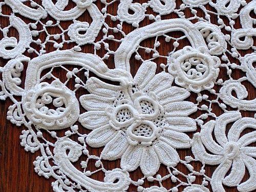 Antique Irish Crochet Lace Cape Collar Crochet Rusoirlandes