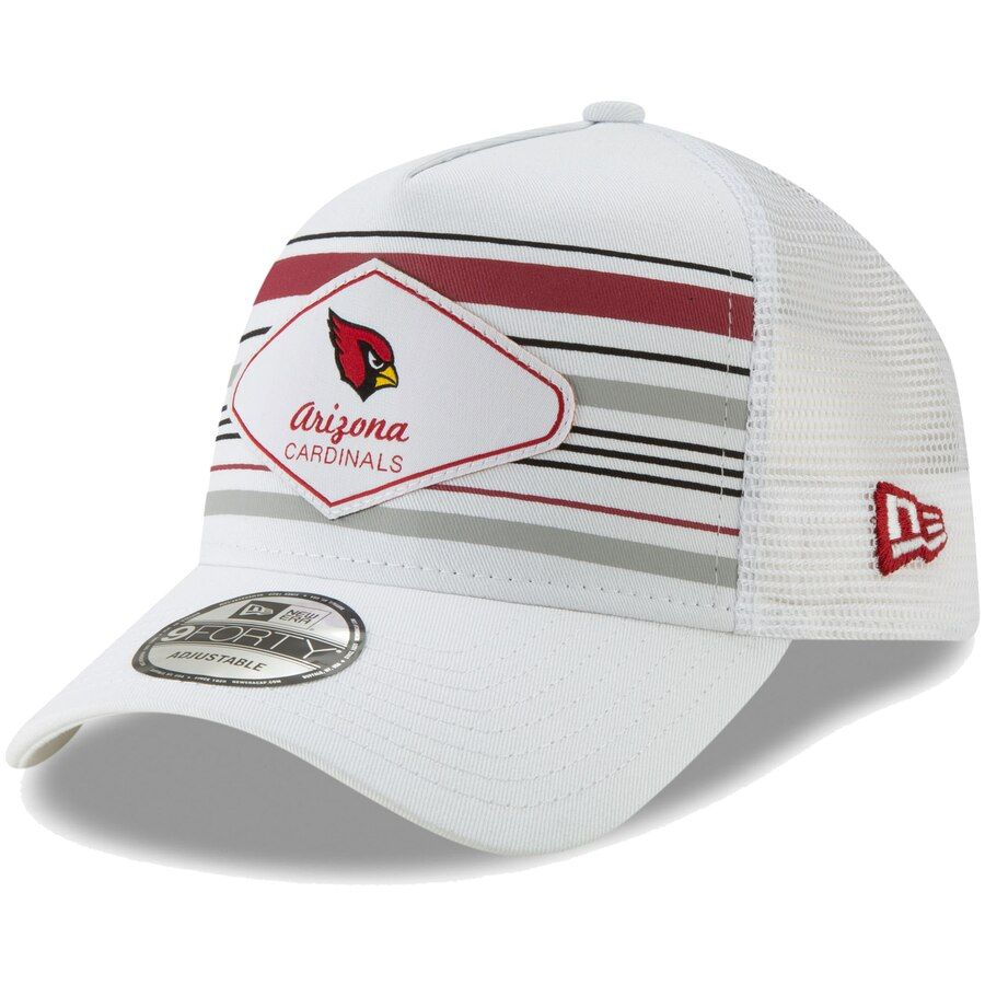 official photos 1bd4e 5599a Men s Arizona Cardinals New Era White Indo A-Frame Trucker 9FORTY Adjustable  Snapback Hat