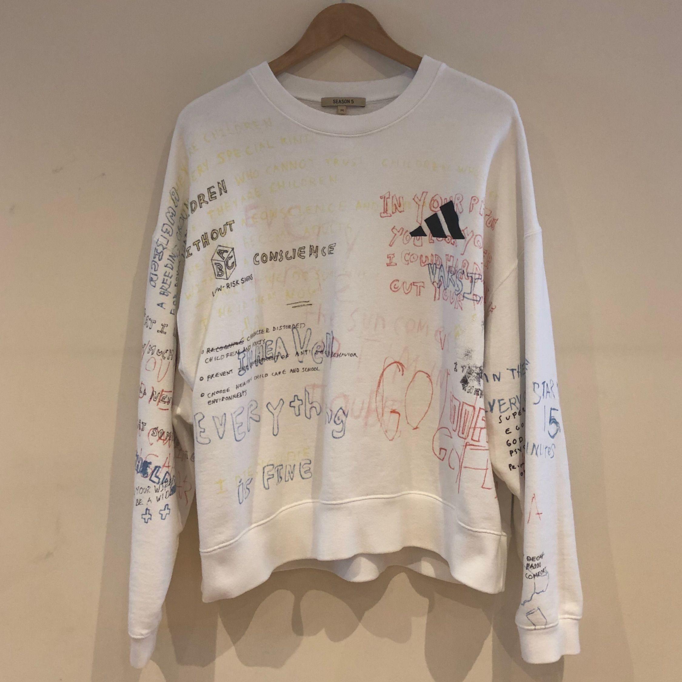Yeezy Season 5 Colored Crewneck Yeezy Sweater Long Sleeve Tshirt Men Yeezy Season [ 2250 x 2250 Pixel ]