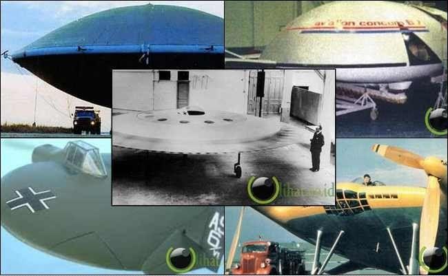 10 Pesawat Terbang bentuk UFO yang Dibuat oleh Manusia