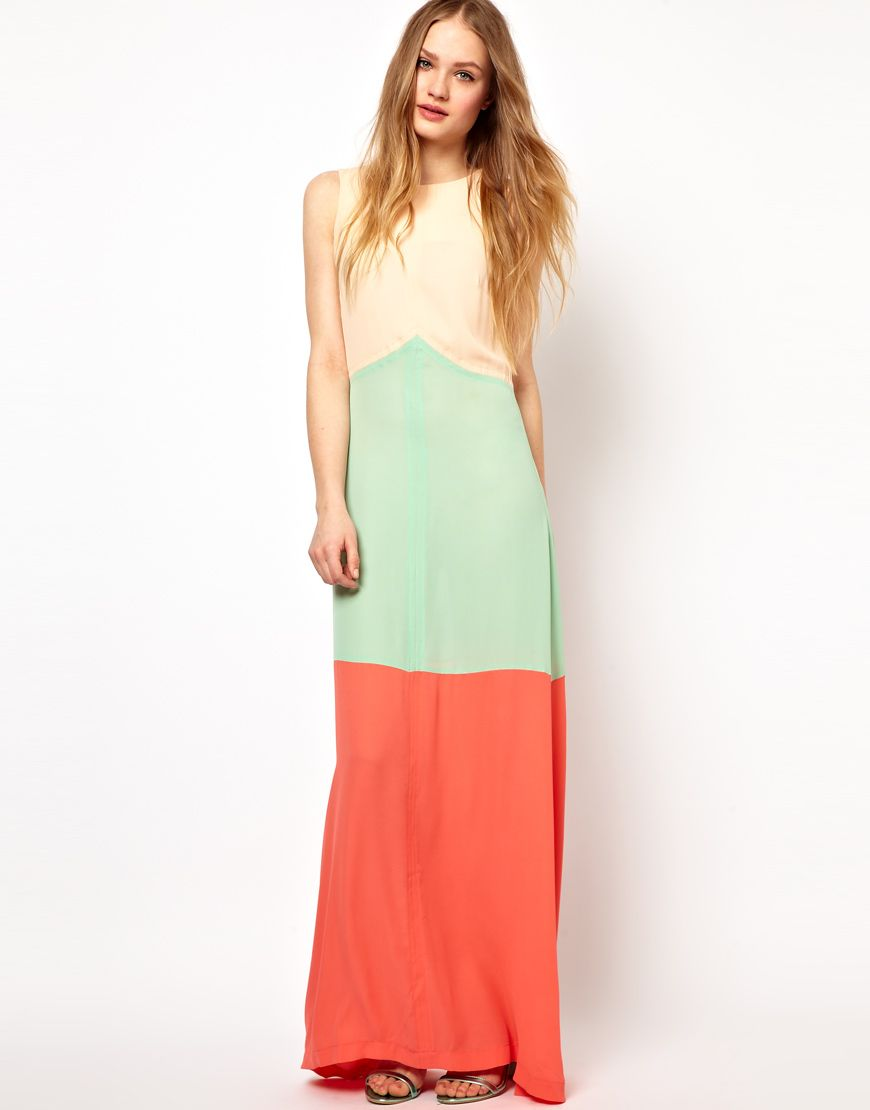 Color blocked maxi for the closet pinterest color blocking