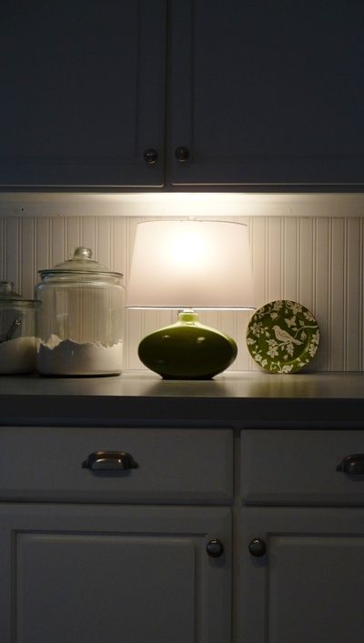 Small Lamp In The Kitchen To Allow For A Small Glow Of Light