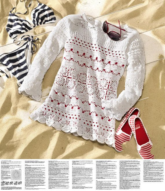 Crochet Beach Tunic Pattern Exquisite Design Pdf Pattern Only
