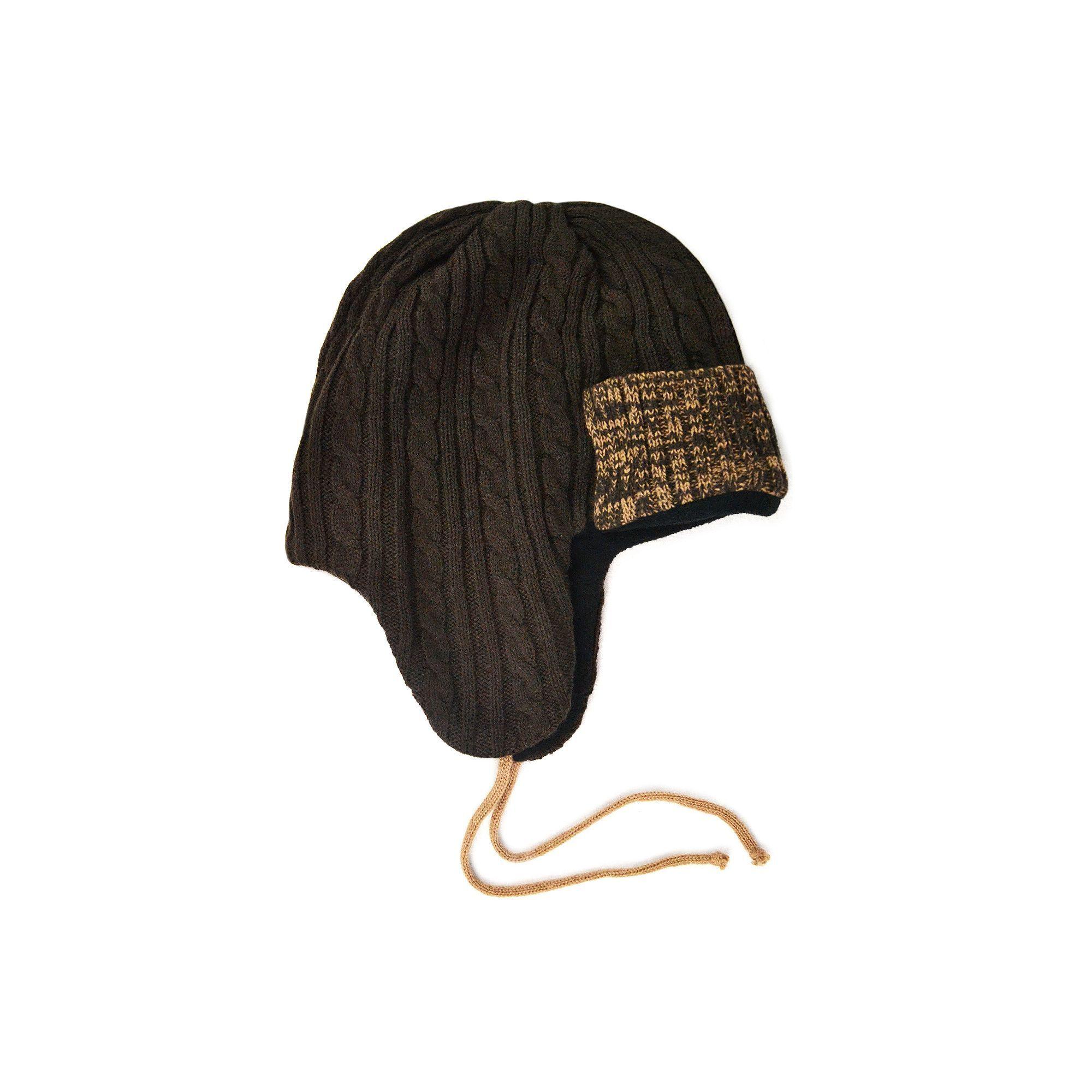 9ac887d02f6ec MUK LUKS Colorblock Cable-Knit Trapper Hat - Men