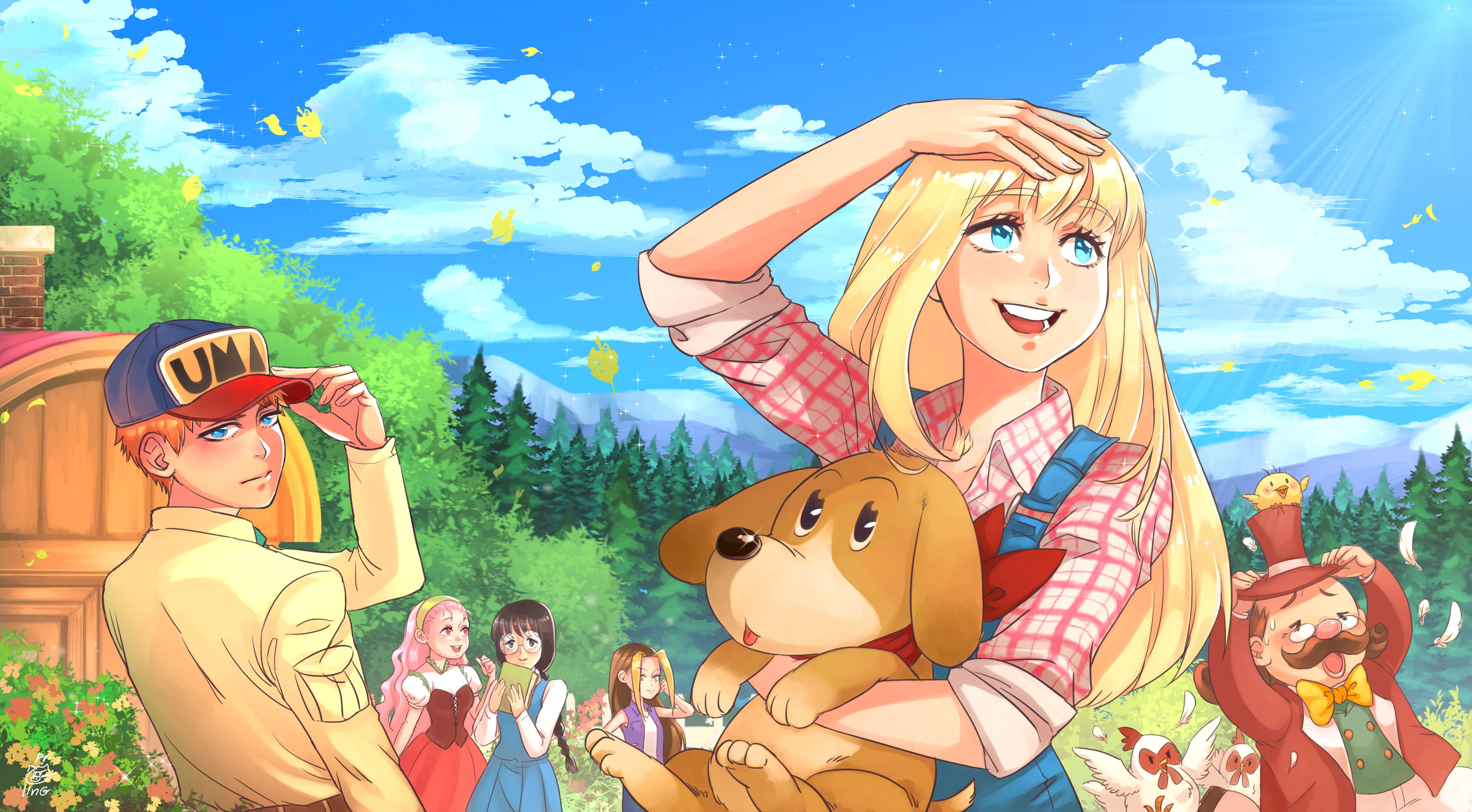 harvest moon back to nature fanart old game but   it's the best to