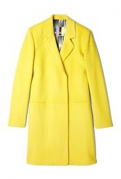Yellow Wool Coat by MSGM