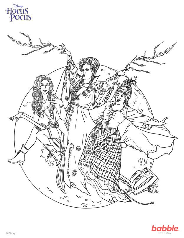 This \'Hocus Pocus\' Coloring Page Will Put a Spell on You | Hocus ...