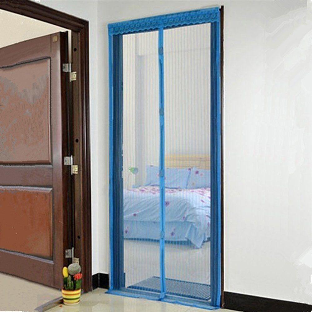 Mesh Door Curtain Bug Screen Door Magnetic Screen Door Full Frame Home Decor New Magnetic Screen Door Screen Door Home Decor