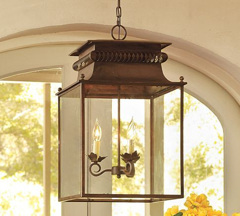 Traditional Outdoor Lighting By Pottery Barn 2 Of These Over The Kitchen Island Maybe Spray Paint In A Bright Color