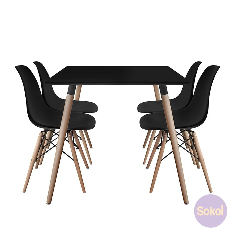 Varberg Collection Dining Package 9515 Black Dining Chairs