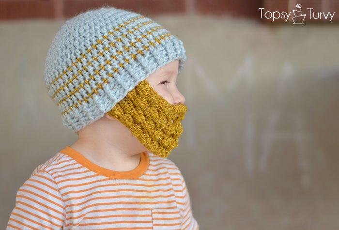 Crochet Bobble Beard pattern - multiple sizes - Im Topsy Turvy ...