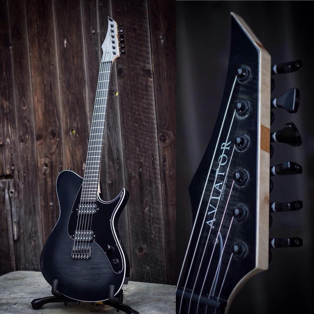 Aviator Guitars Full Body Shot Headstock Detail On The Tom Adamek Emg707 Ibanez Wiring Help Sevenstringorg Warbird 6
