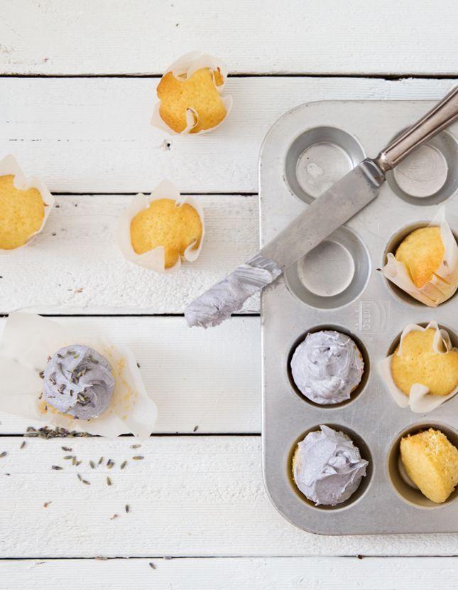 Recipe | Lavender Coconut Mini Cupcakes