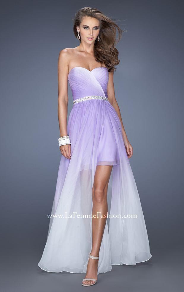Beaded Strapless Gown by La Femme   Traumkleid und Kleider