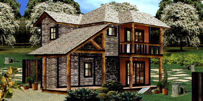 Casas de campo em aclive estilo americano pesquisa - Casas estilo americano ...