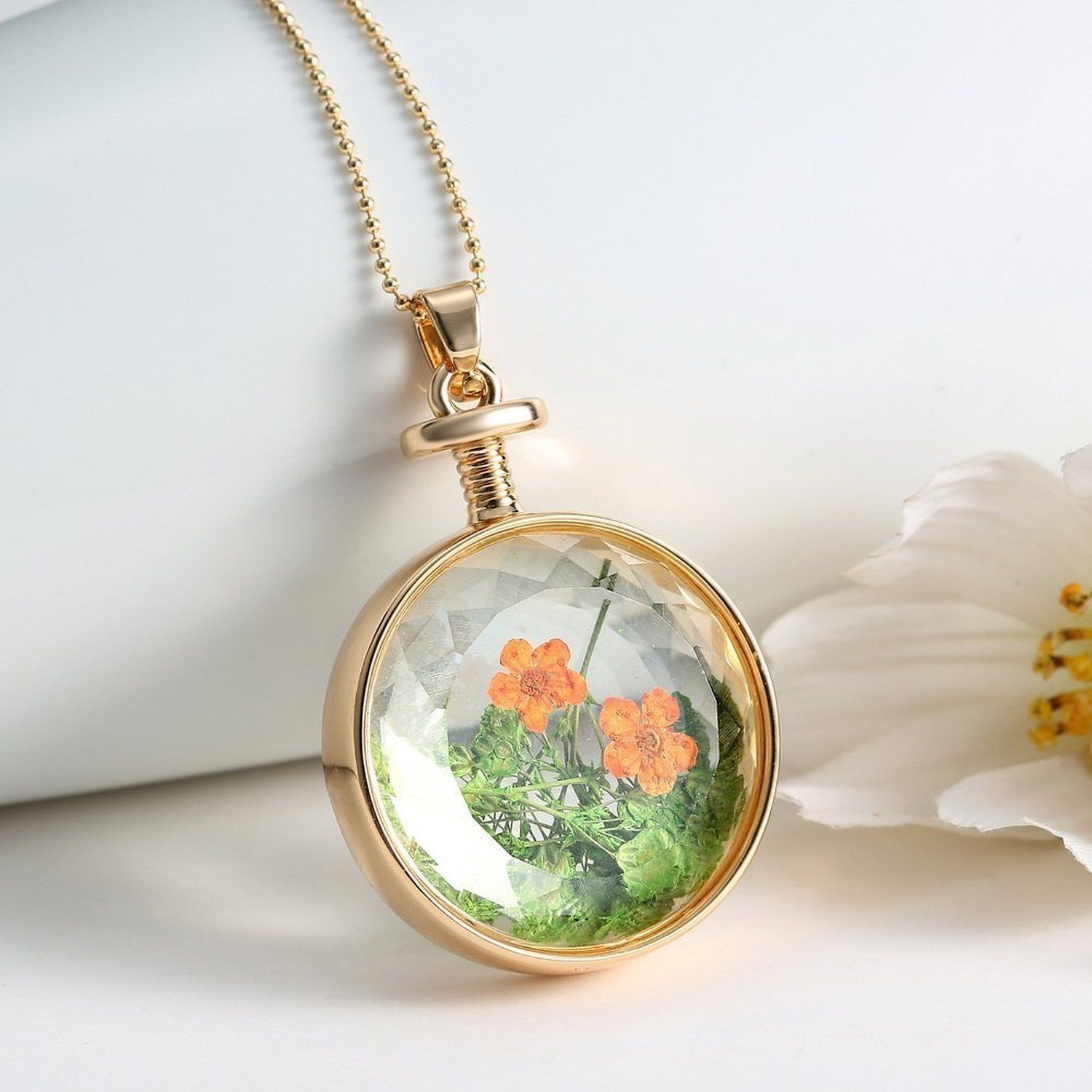 clear products glass sea authenticated mini real round lockets locket