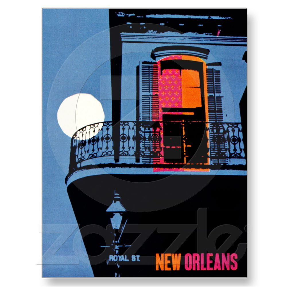 Zazzle poster design - New Orleans Louisiana Vintage Travel Poster Post Card From Zazzle Com
