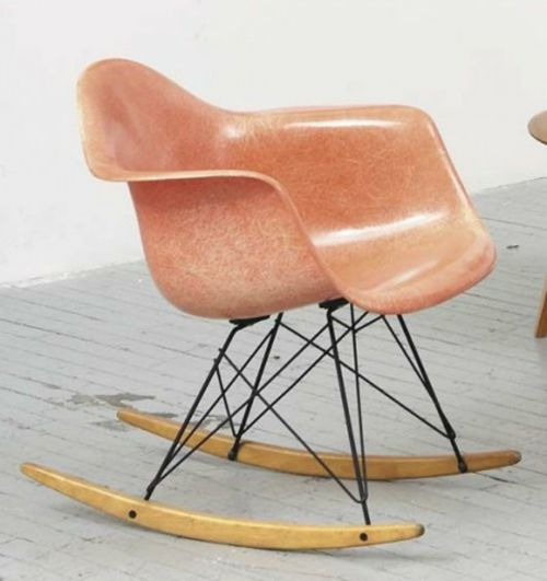 I Sit On My Porch And Rock Back And Forth. Vintage Eames RAR Rocking Chair  In A Perfectly Faded Hue Of Pink