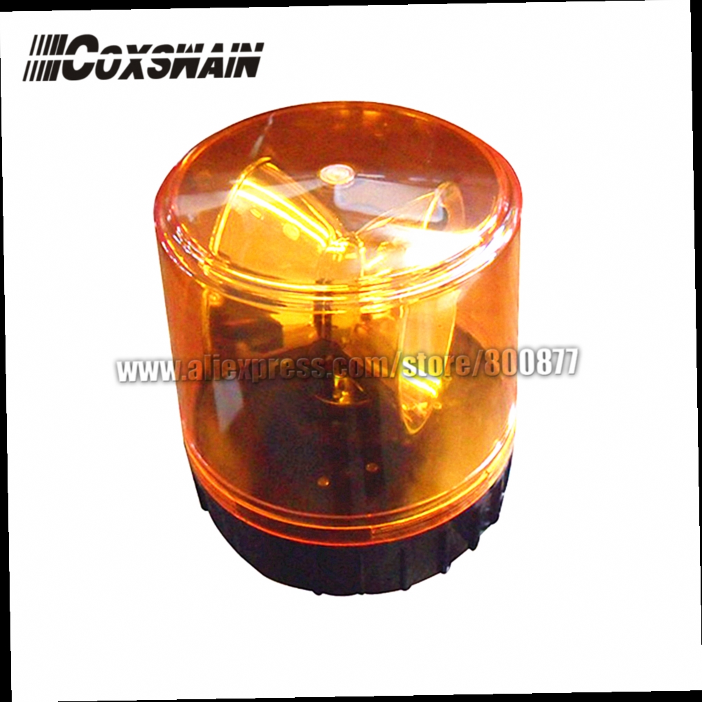 49.90$  Buy here - http://alik5o.worldwells.pw/go.php?t=1125080885 - Amber Rotator Beacon for engineering truck or booth, halogen warning light, PC lens , Power 23W, waterproof (IP65 standard) 49.90$