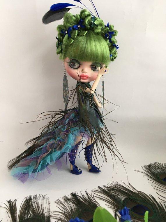 OOAK Peacock Doll Künstler- & handgemachte Puppen