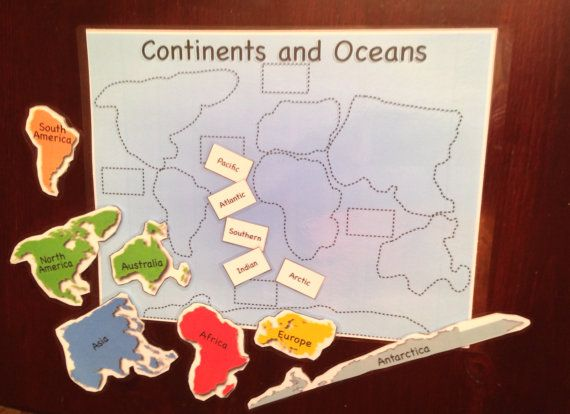 Continents and Oceans puzzle printable $2.50 Classical Conversations Cycle 2 Week 1