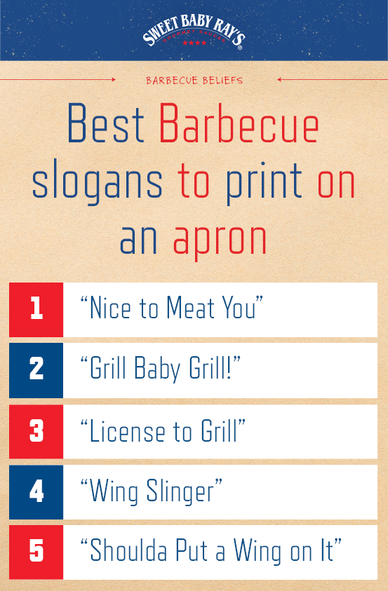 Best Barbecue slogans to print on an apron 1  Nice to Meat