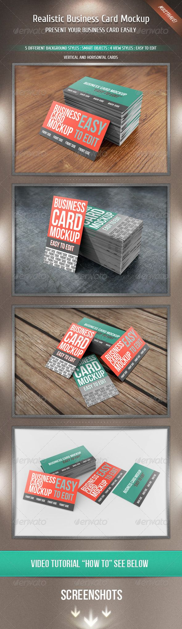 Realistic Business Card Mockup | Mockup and Business cards