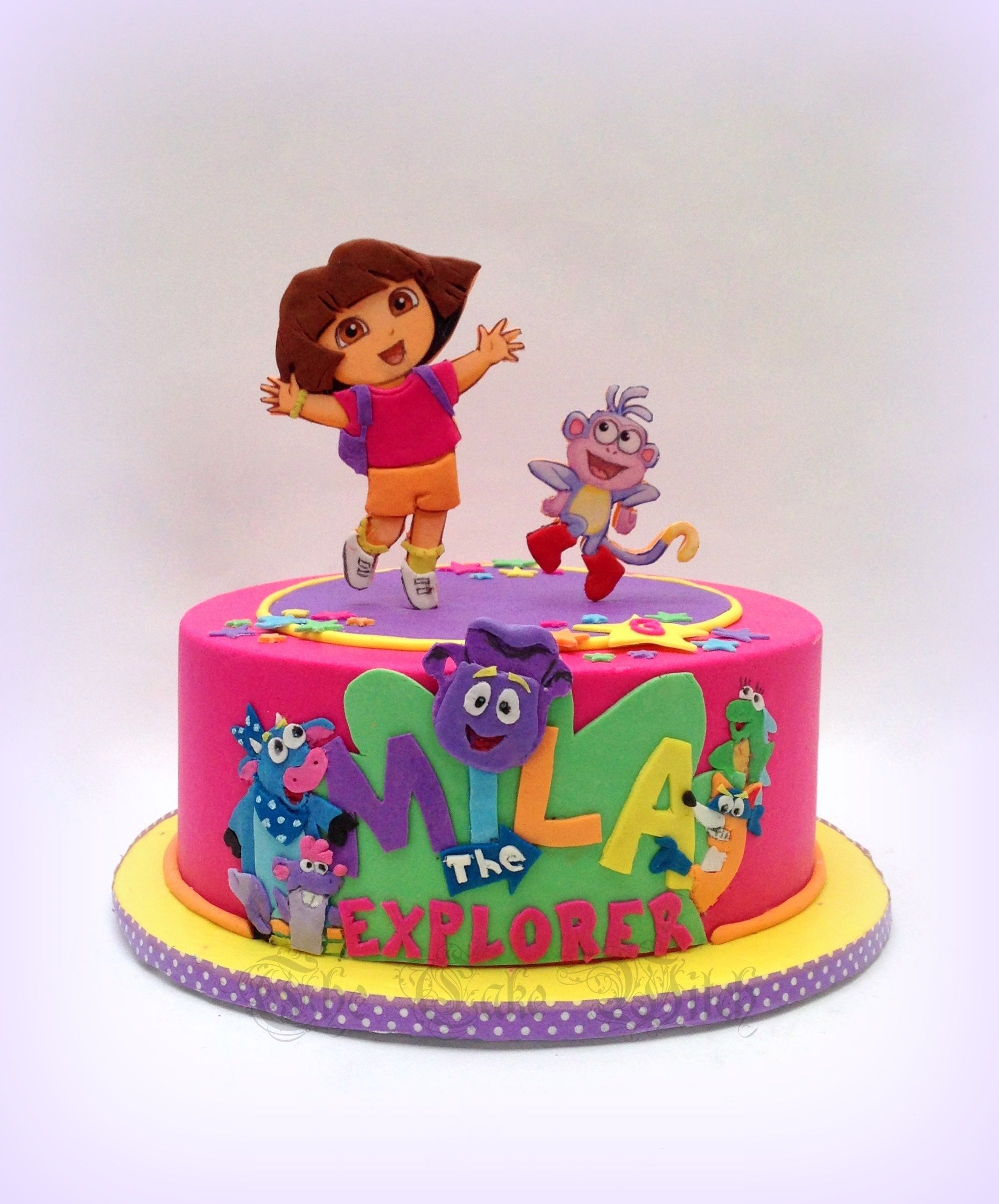 Outstanding Dora The Explorer Birthday Cake With Images Dora Birthday Funny Birthday Cards Online Alyptdamsfinfo