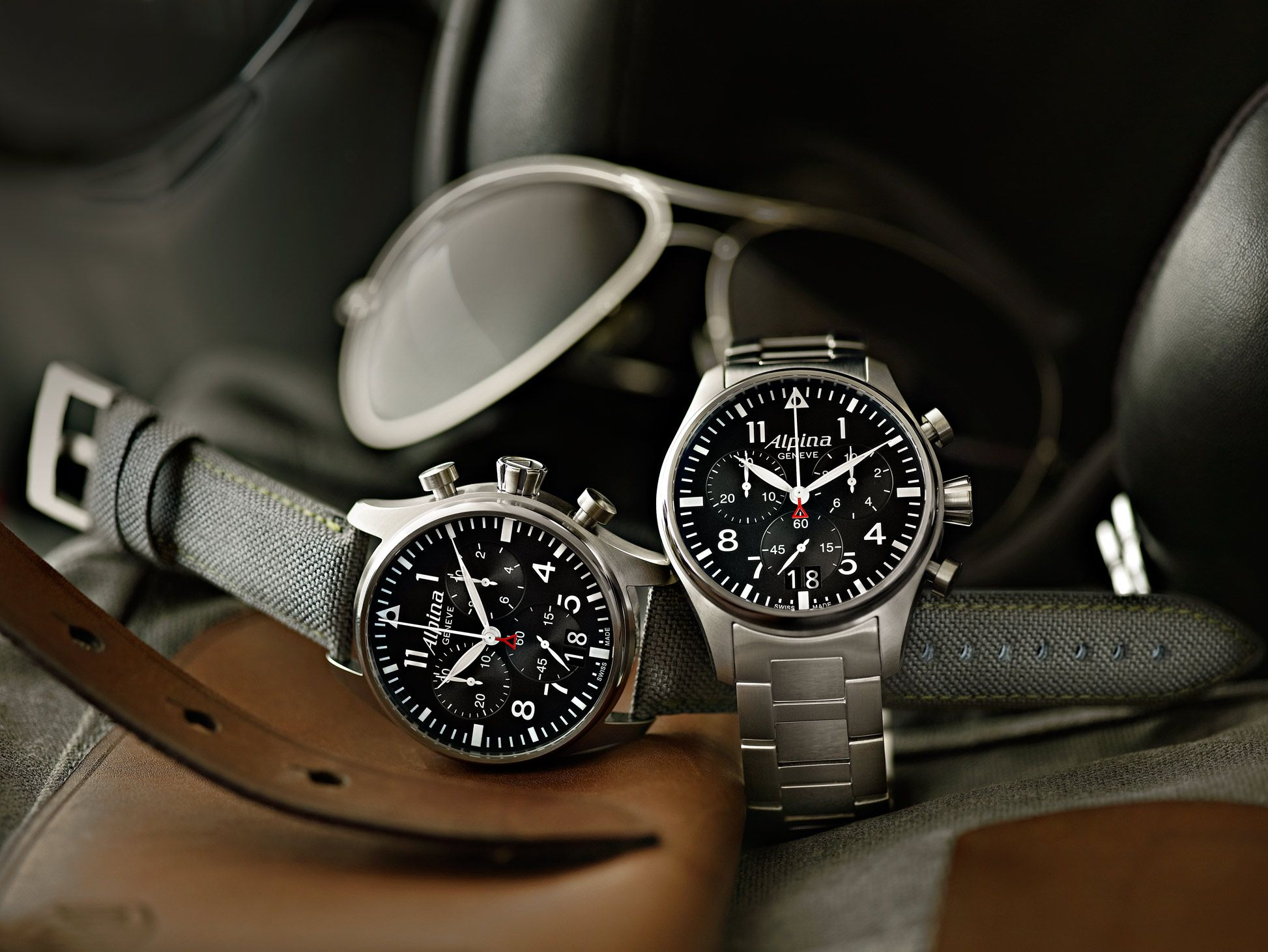 Imagini pentru 1. Alpina Heritage Pilot Chronograph Automatic