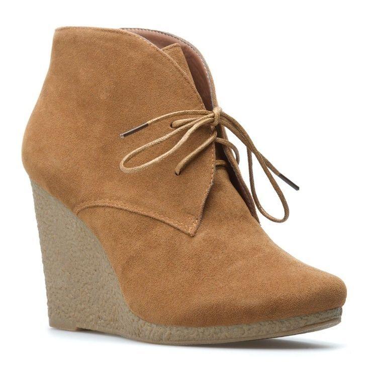 Shoedazzle Shy Sand Wedge booties 7.5