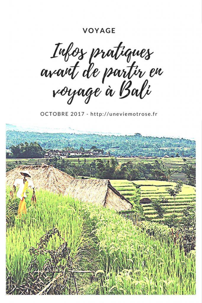 Infos pratiques à connaître avant de partir en voyage à Bali